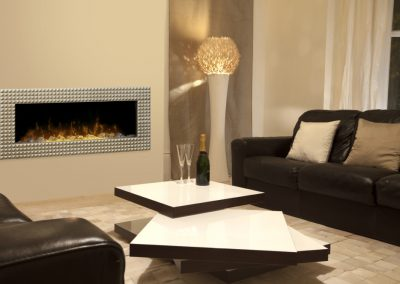 Ossington frame with crystal media fireplace